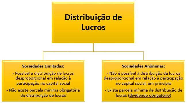 distribuição de lucros nas limitadas e anônimas