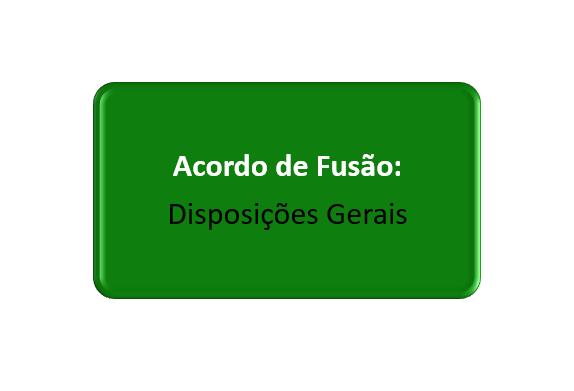 disposições gerais do acordo de fusão