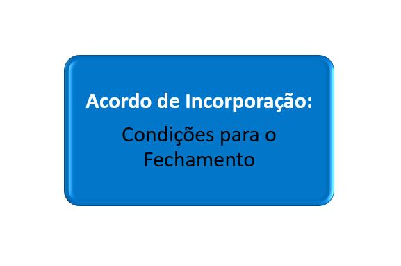 condições do acordo de incorporação