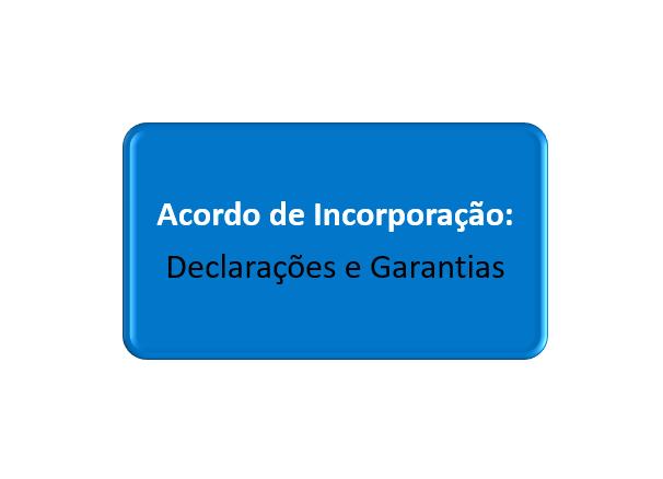 declarações e garantias do acordo de incorporação